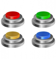 3d glossy buttons vector image vector image