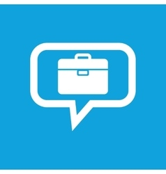 Briefcase message icon vector