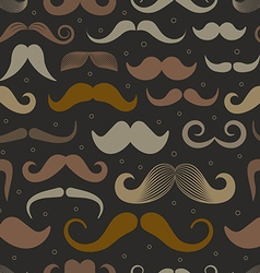 Different retro style moustache seamless patt vector