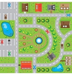 Game background rural landscape the top view vector