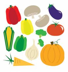 Simple vegetables vector