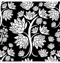 Seamless tree pattern 023 vector