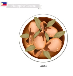 Adobo or philippines meat stir with vinegar vector