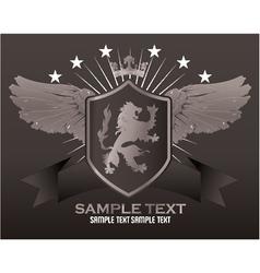 vintage emblem with lion vector image