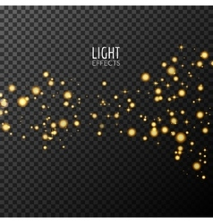 Abstract sparkles on dark transparent background vector