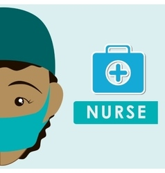 Medical care design nurse icon white background vector