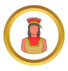 American indian icon vector