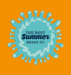 best summer design vector image vector image