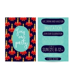 Bright Cartoon Invitation on Christmas Fun Party vector image vector image
