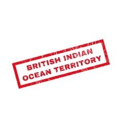 British indian ocean territory rubber stamp vector