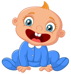 Cartoon happy baby boy vector
