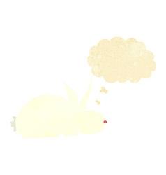 Cartoon rabbit with speech bubble vector