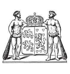 Coat of arms brunswick vintage vector