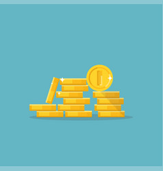 coins in pile vector image