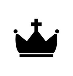 crown with cross icon black vector image vector image