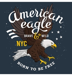 Eagle print 001 vector image
