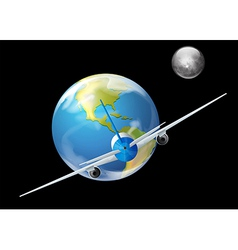 Earth and the plane vector