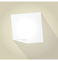 Empty paper with trendy long shadow vector