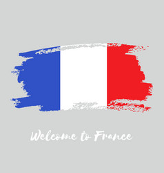 france watercolor national country flag icon vector image