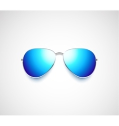 Glossy aviator sunglasses design vector image