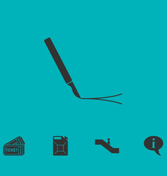 incision surgery icon flat vector image vector image