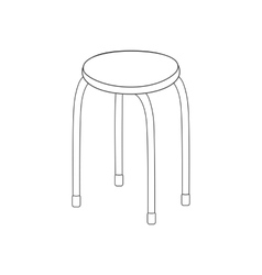 Kitchen chair path vector image