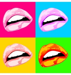 Lips sex pink icon women vector image