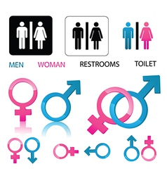 Male and female icons vector image vector image
