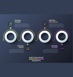 modern infographic horizontal design template with vector image vector image