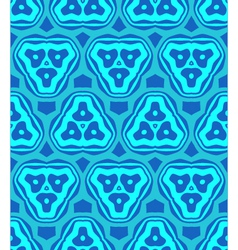 Psychedelic abstract colorful blue cyan seamless vector