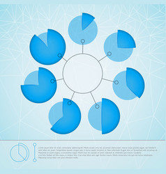 Round business diagram template vector