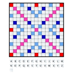 Scrabble set vector