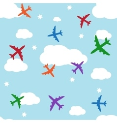 Seamless background with jets vector image