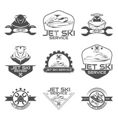Set logo jet ski scooter vector