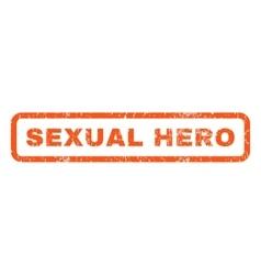 Sexual hero rubber stamp vector