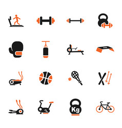 Sport equipment icon set vector