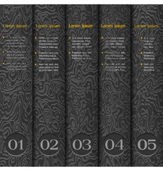Textured paper numbered banners vector image vector image