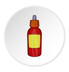 Liquid for electronic cigarettes icon vector