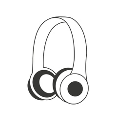 Earphones audio device icon vector