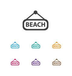of travel symbol on beach icon vector image