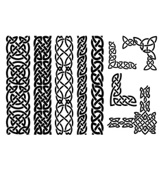 Celtic patterns and celtic ornament corners vector