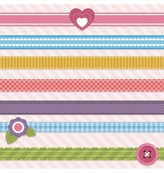 Collection of cute ribbons vector