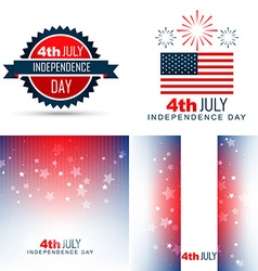 Simple set of american independence day background vector
