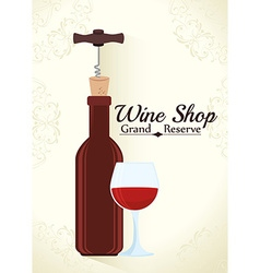 Wine digital design vector