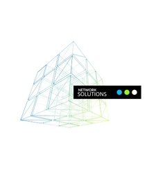 Cube geometry construction icon vector