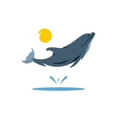 Dolphin cartoon vector