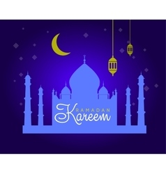 Holiday of shiny ramadan vector