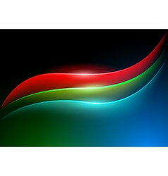 Waving RGB Curves vector image