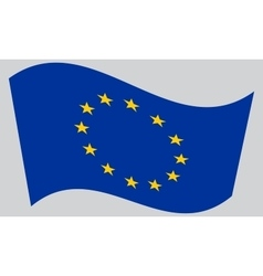 Flag of europe european union waving vector