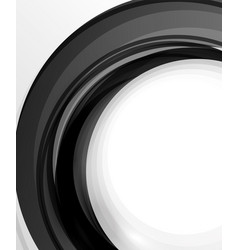 Abstract background swirl wave line template vector